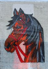 Horse Printed 6 Count Binca Cross Stitch Kit